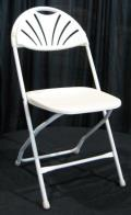 Where to rent CHAIR WHITE FAN BACK in Bath NY