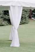 Where to rent 8  IVORY TENT LEG DRAPES in Bath NY